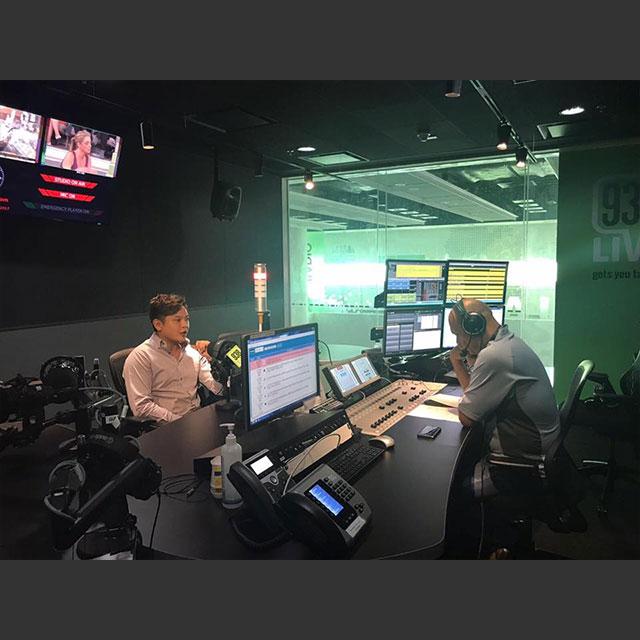 James Soh, in 938's radio studio.